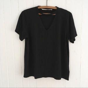 Rachel Rachel Roy Deep V Cutout Boxy Shirt